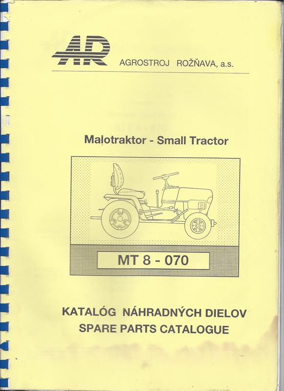 Katalog náhradních dílů MALOTRAKTOR MT8-070