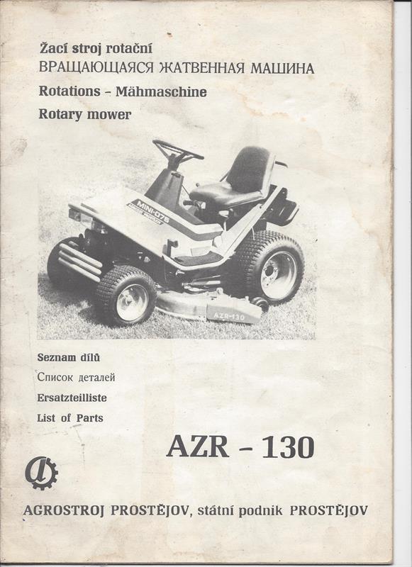 Katalog náhradních dílů AZR-130