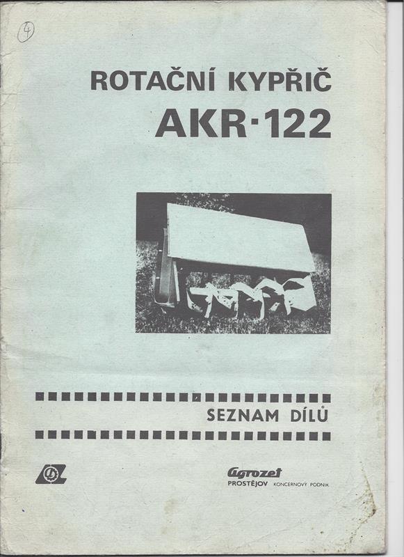 Katalog náhradních dílů AKR-122