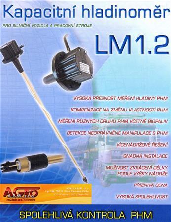 Kapacitní hladinoměr LM1.2