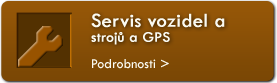 Servis vozidel a stroj a GPS