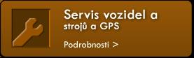 Servis vozidel a strojů a GPS