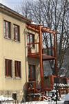 dřevěná okna - bytový dům Šumperk