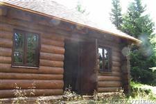 dřevěná okna - srub v Jeseníkách