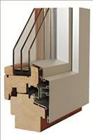 řez dřevo-hliníkovým oknem AZ EKOTHERM