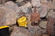 Karbidové lampy používané v dolech