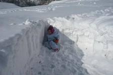 ...na sněhu
