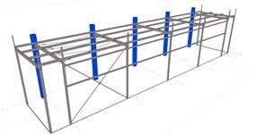 Ocelová konstrukce přístavby pekárny