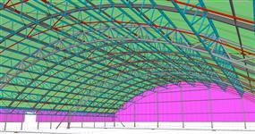 Ocelová konstrukce tenisové haly BORS Club Břeclav