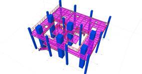 Ocelová konstrukce technologických plošiny energetického objektu