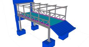 Ocelová konstrukce vstupní lávky