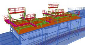Ocelová konstrukce plošin pro instalaci VZT jednotek