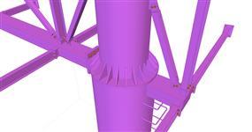 Ocelová konstrukce pro reklamní poutač TESCO