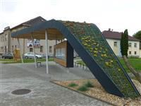 Ocelová konstrukce autobusové zastávky Dolní Čermná