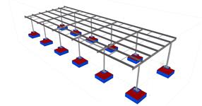 Shed steel structure