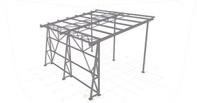 Shed steel structure MCHZ Ostrava