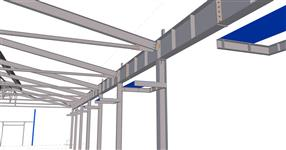 Workshop building extension steel structure