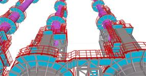 Complete steel structure of refinery production unit