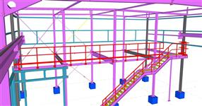 Workshop steel structure with built-in office