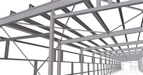 Warehouse steel structure extension