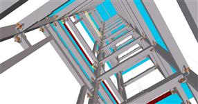 Ocelová konstrukce výtahové šachty