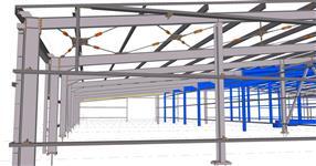 Ocelová konstrukce přístavby haly - Velké Losiny