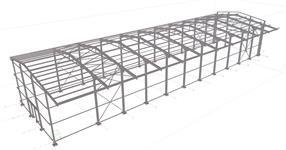 Ocelová konstrukce skladové haly - Vysoké Mýto