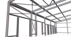 Ocelová konstrukce přístavby energetického uzlu - Široký Dvůr
