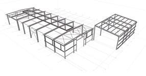 Ocelová konstrukce hal skladového areálu hutního materiálu - Vysoké Mýto