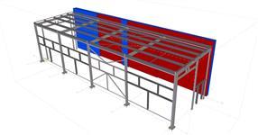 Ocelová konstrukce rozšíření skladového objektu - Vizovice