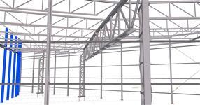 Ocelová konstrukce přístavby haly motorárny - Česká Třebová