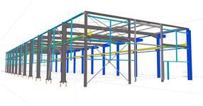Ocelová konstrukce přístavby výrobní haly s jeřábovou dráhou - Napajedla