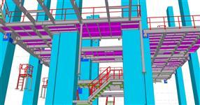 Ocelové konstrukce plošin a lávek energetického objektu