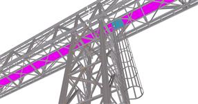 The steel structure of pipe rack
