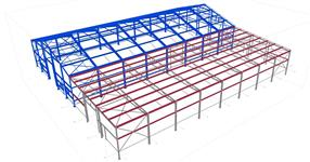The steel structure of warehouse extension