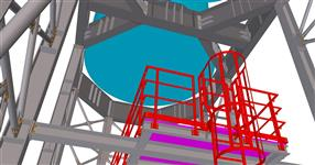 The steel structure of silo support