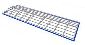 The roof steel structure of warehouse