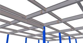 The steel structure of intermediate floor in warehouse