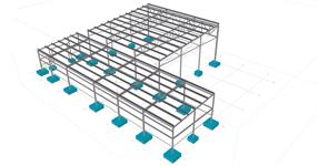 The steel structure of warehouse with neighbour shed