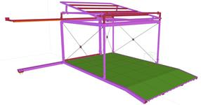 The awning steel structure