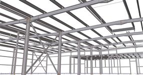 Another erection phase of production hall steel structure
