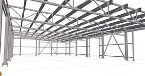 The steel structure of warehouse