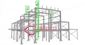 The steel structure of production hall