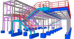 The steel structure of karting operation and technical facilities