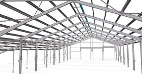 The steel structure of cowshed