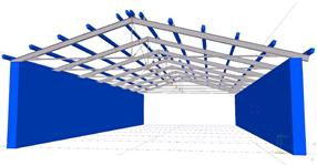 The steel structure of cow shed