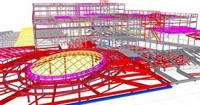 Ocelová konstrukce rozšíření Obchodního centra Chodov