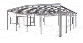 The workshop building steel structure