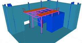 The steel platform for aircondition