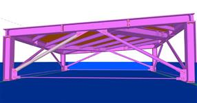 The steel structure of advertising banner supporting